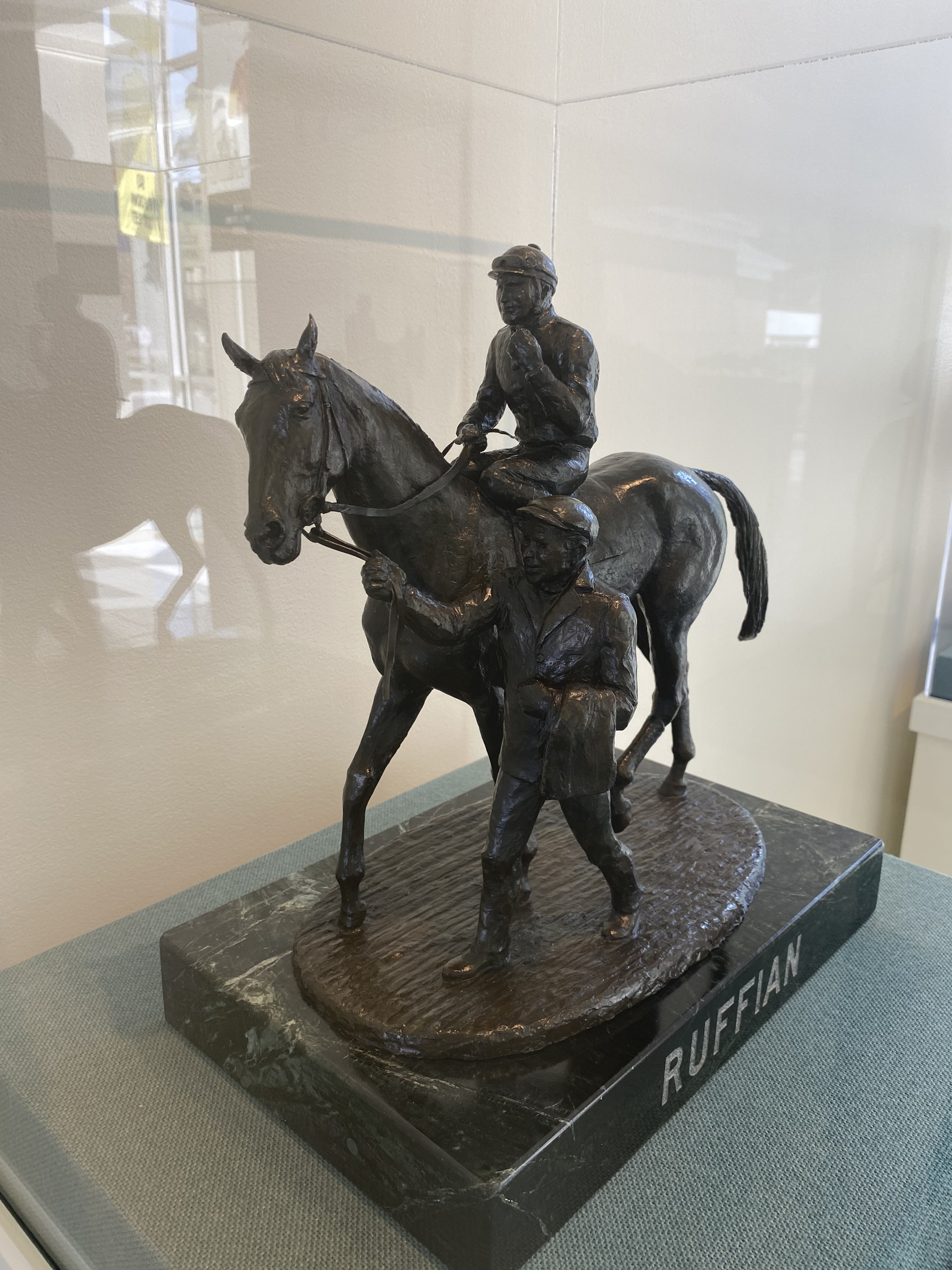 1977.6: Ruffian by Eleanor Iselin Wade, bronze, Gift: Mr. and Mrs. Kenneth Schiffer