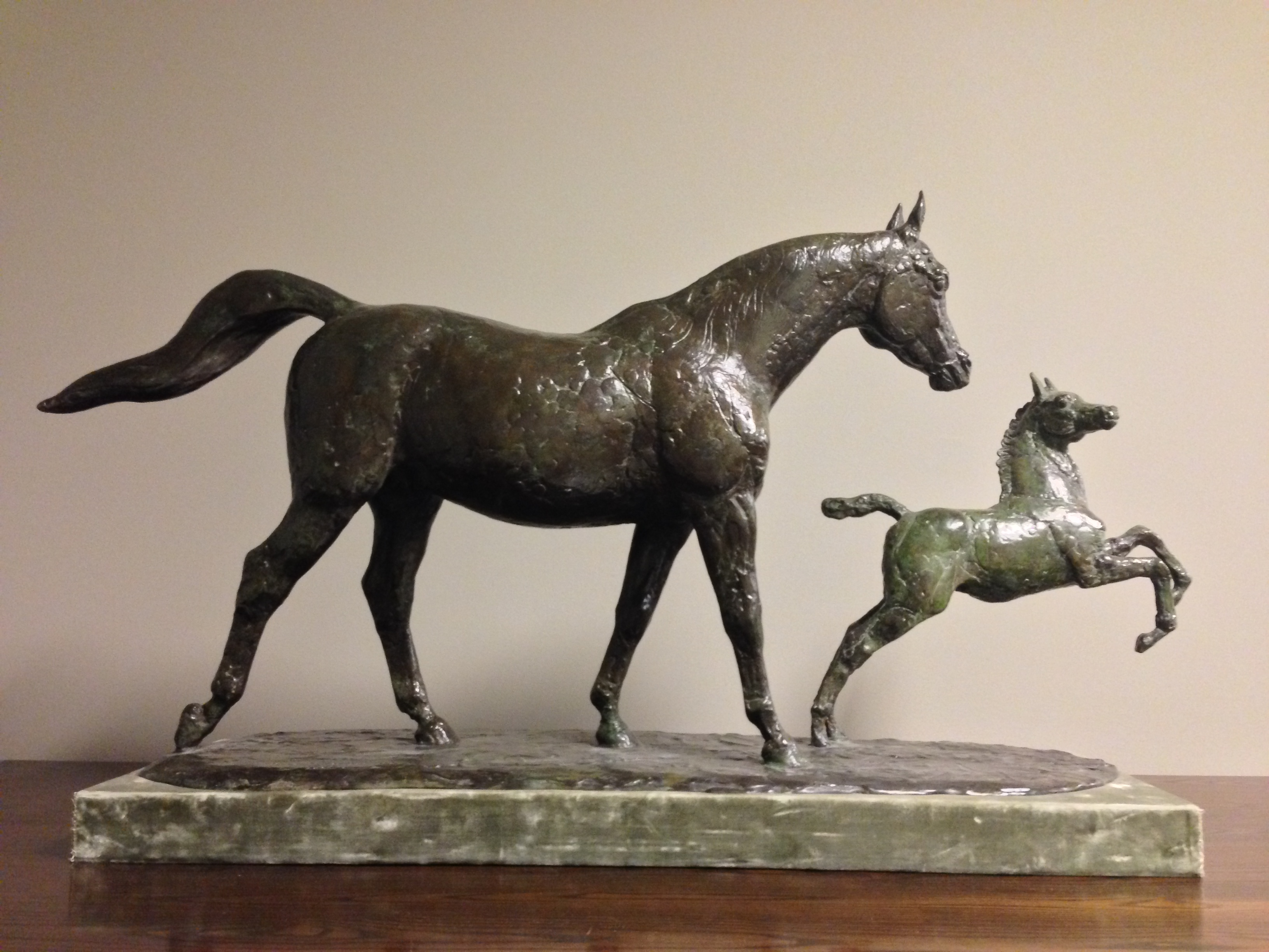 1993.4: Mare and Foal by Herbert Haseltine (1877-1962), Bronze, 1948, Gift: Paul Mellon