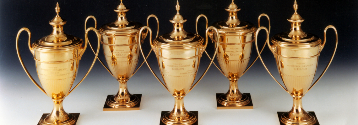 Jockey Club Gold Cup trophies, won by Kelso