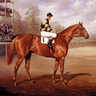 Man o' War as a Two-year-old by Franklin Brooke Voss, Oil on canvas, 1919