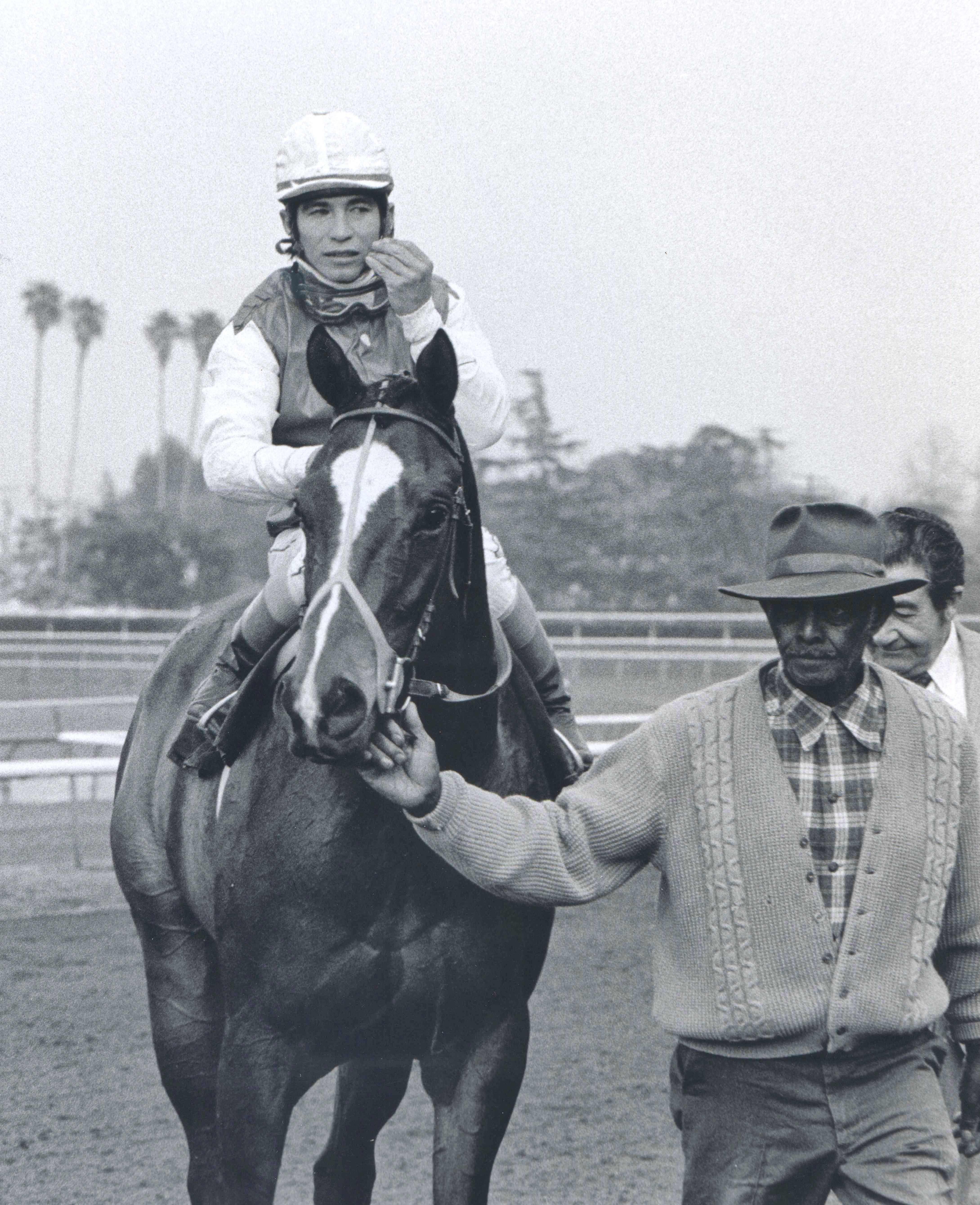 Ancient Title (Laffit Pincay, Jr. up at Santa Anita for the 1974 San Fernando Stakes (Bill Mochon/Museum Collection)