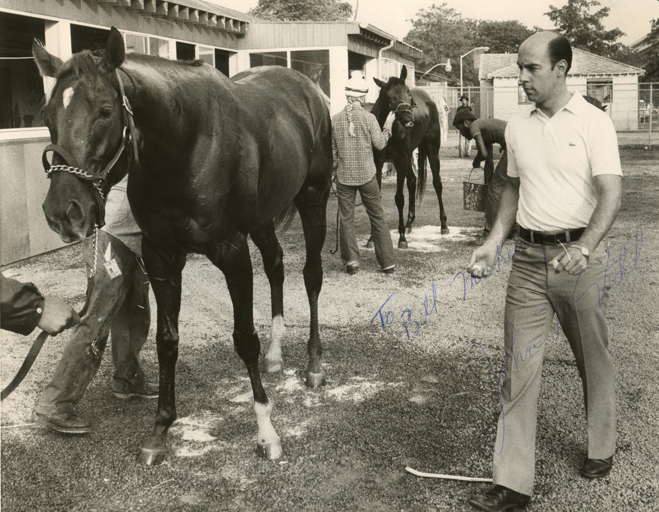 Alydar with Hall of Fame trainer John Veitch (Museum Collection)