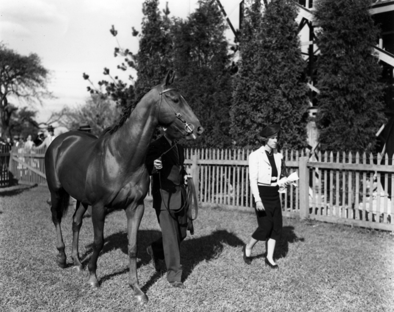 Battleship with owner Marion duPont Scott at the Foxcatcher Races in September 1933 (Keeneland Library Morgan Collection/Museum Collection)