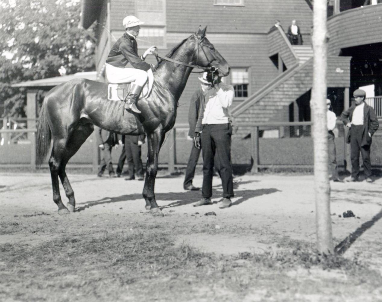 Broomstick (Thomas Burns up) at the 1904 Travers Stakes at Saratoga (Keeneland Library Cook Collection/Museum Collection)