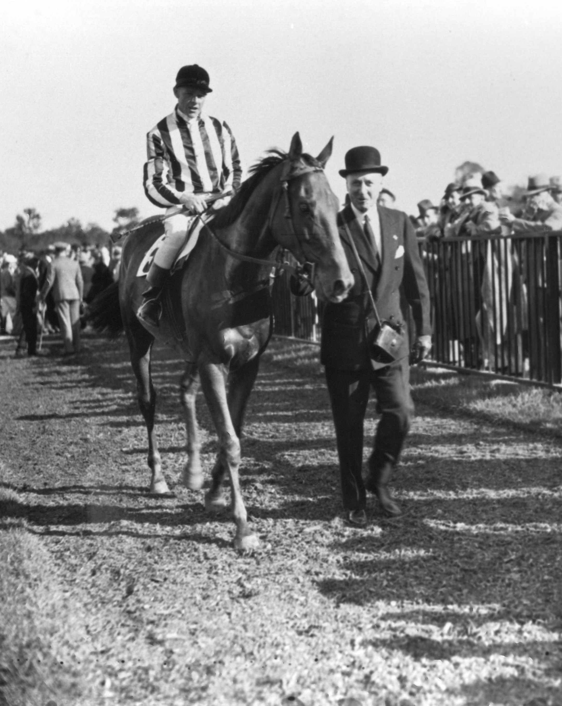 Bushranger at the 1936 Grand National Steeplechase at Belmont Park (Keeneland Library Cook Collection/Museum Collection)
