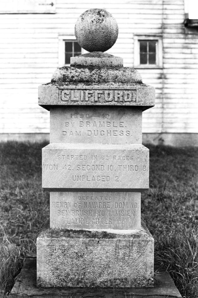 Clifford's grave at Hurricana Farm (Courtesy of Friends of Sanford Stud Farm)