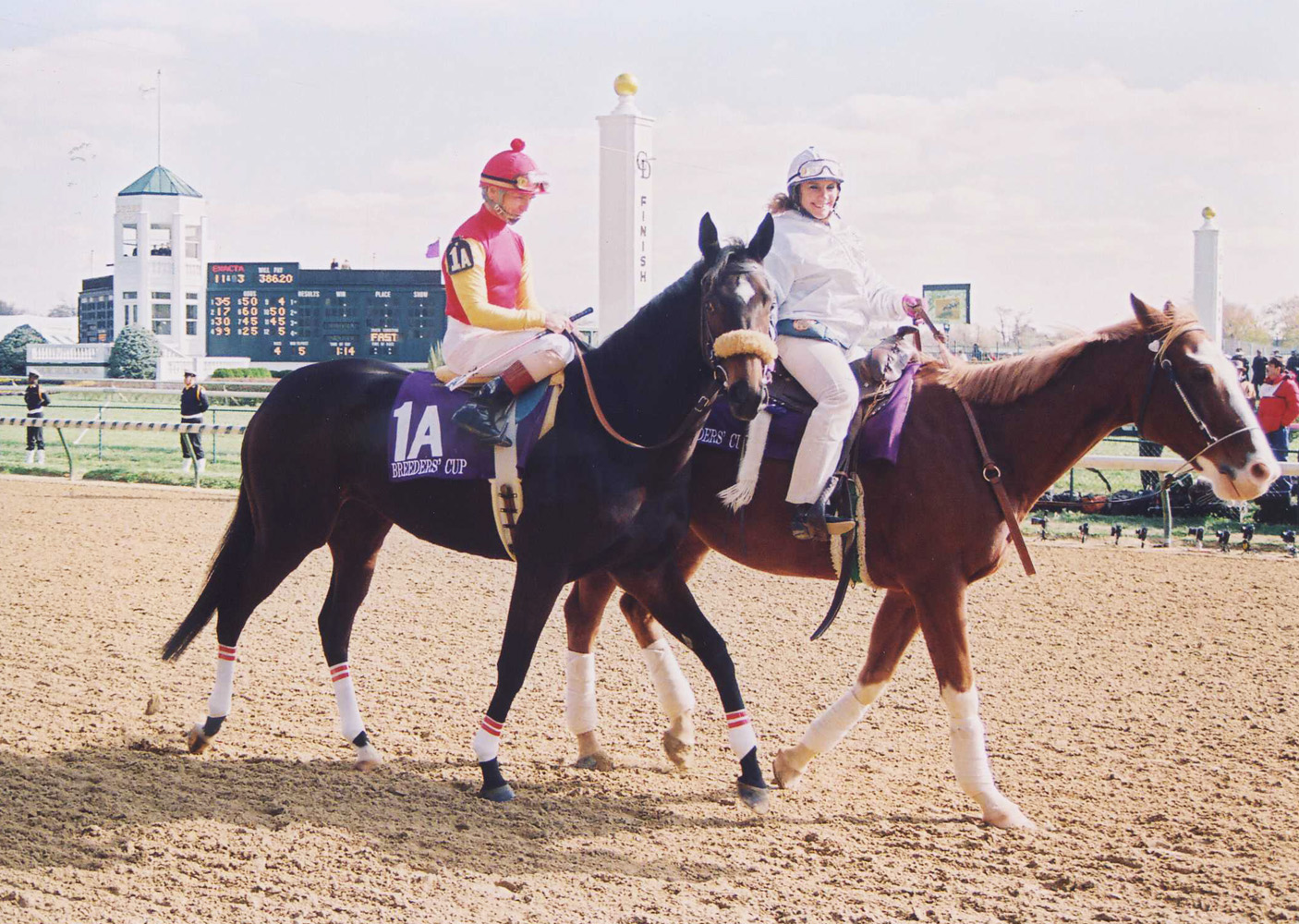 Dance Smartly (Pat Day up) in the post parade for the 1991 Breeders' Cup Distaff (Barbara D. Livingston/Museum Collection)
