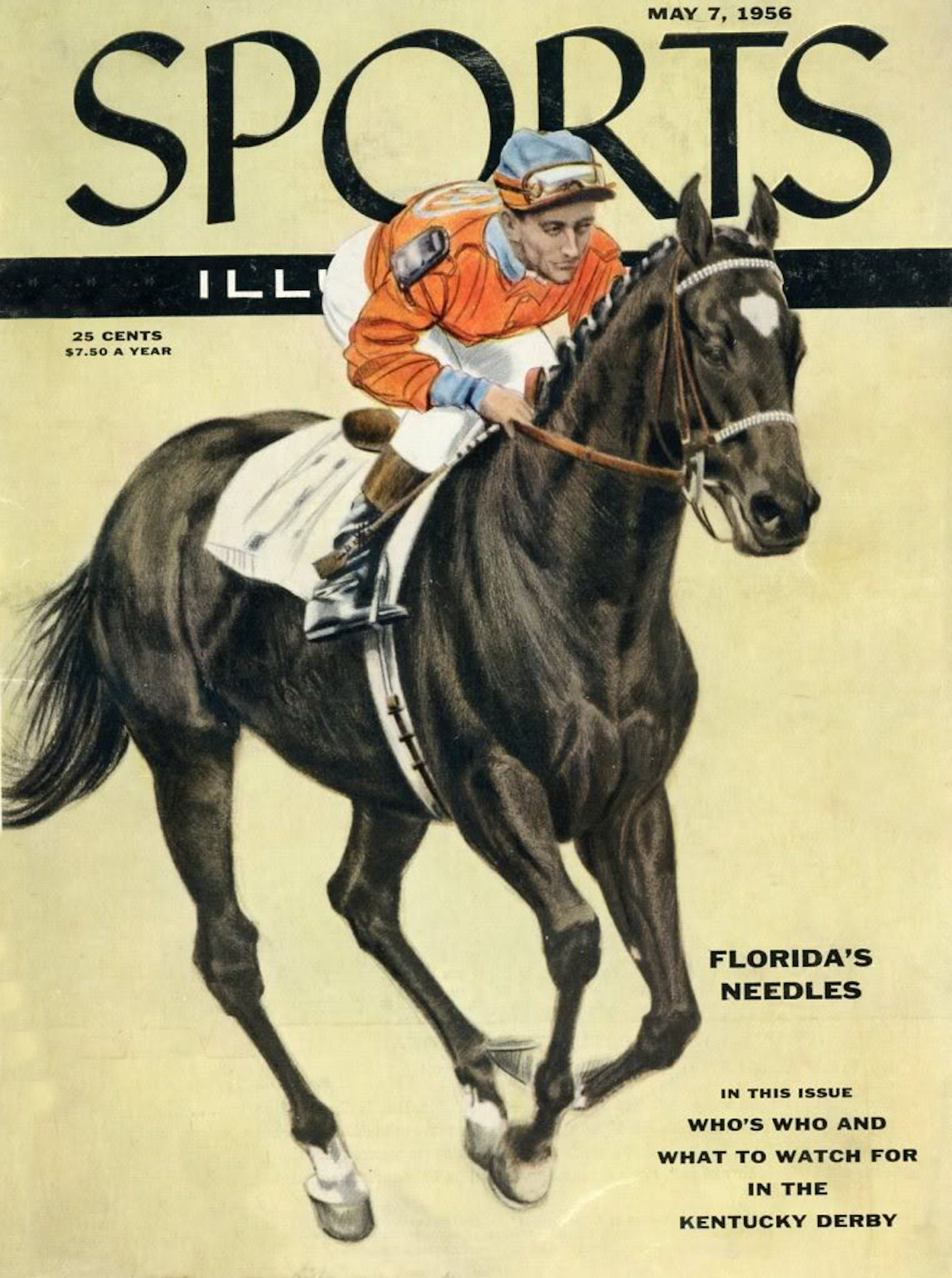 """Needles with Dave Erb up on the cover of """"Sports Illustrated"""" in 1956 (Sports Illustrated)"""