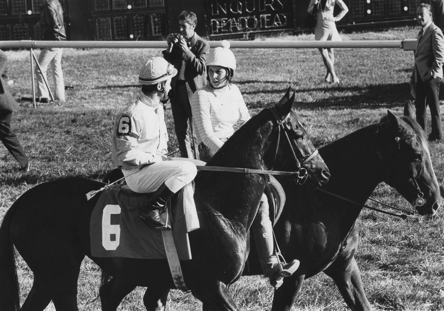 Desert Vixen (Ron Turcotte up) before the 1974 Washington, D.C. International at Laurel Park (Ray Woolfe, Jr./Museum Collection)