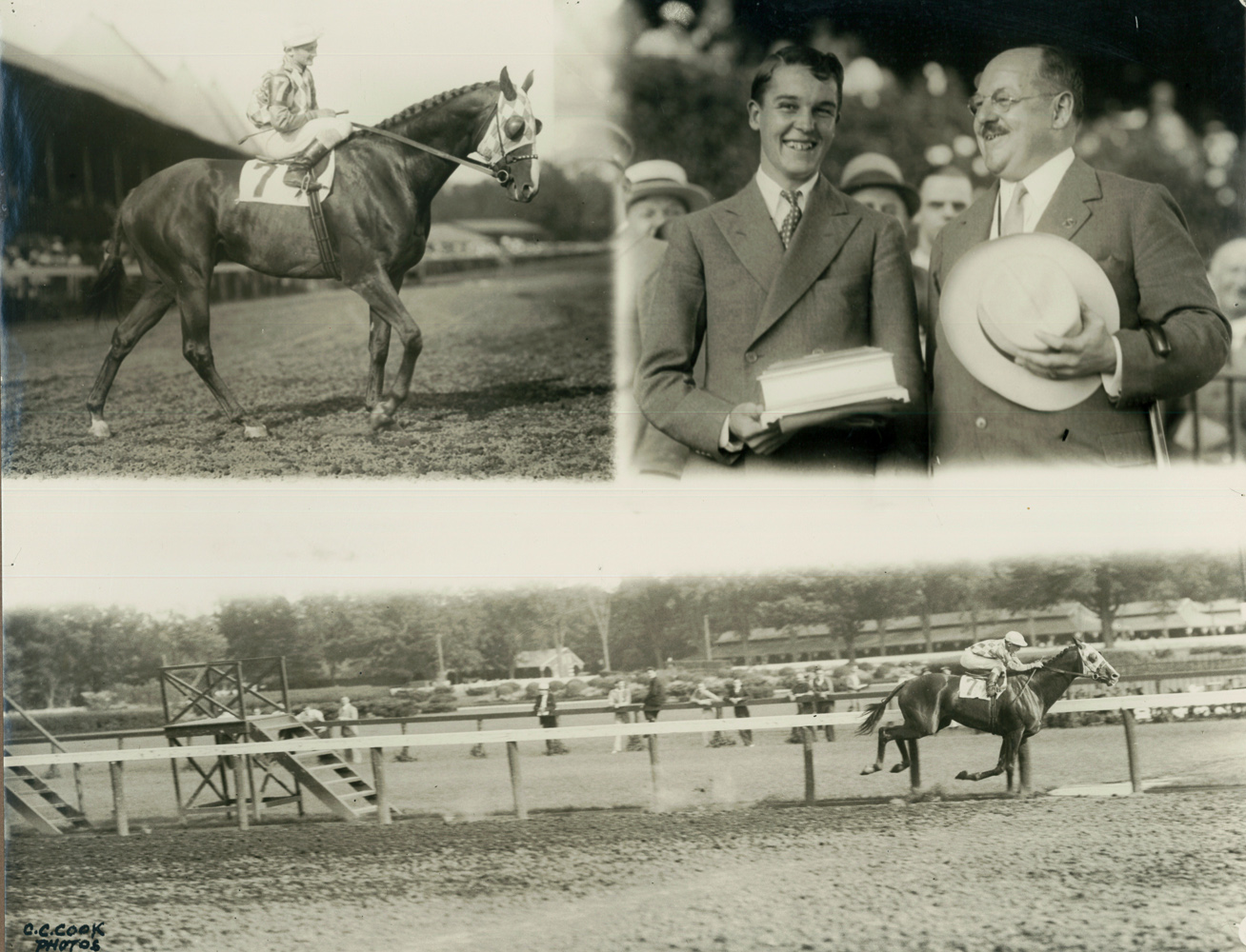 Win composite, 1934 Whitney, won by Discovery with Don Meade up (C.C. Cook/Museum Collection)