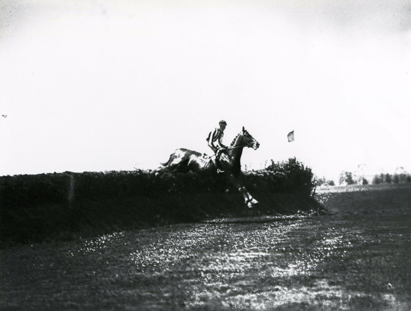 Fairmount (J. Lewis up) taking a jump (Keeneland Library Cook Collection/Museum Collection)