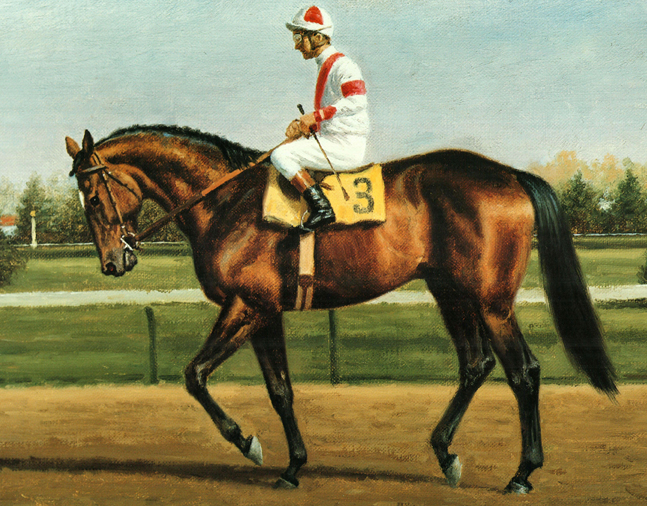 Painting of Gallant Man by Richard Stone Reeves