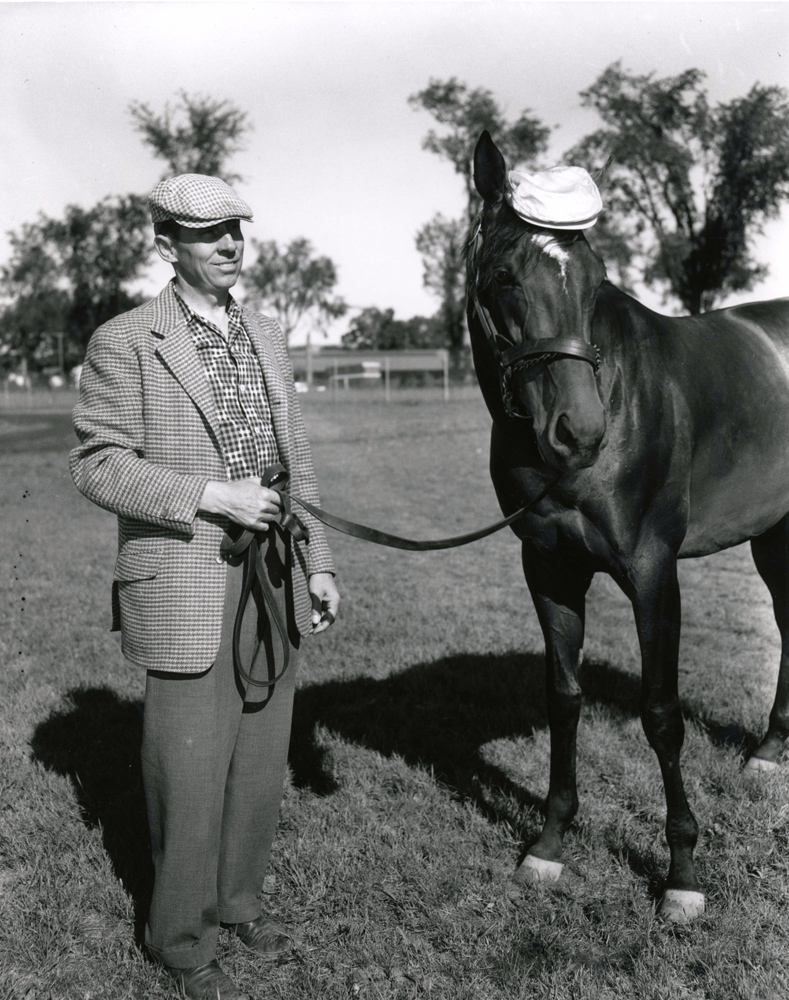 Trainer John Nerud and Gallant Man at Saratoga, August 1958 (Keeneland Library Morgan Collection/Museum Collection)