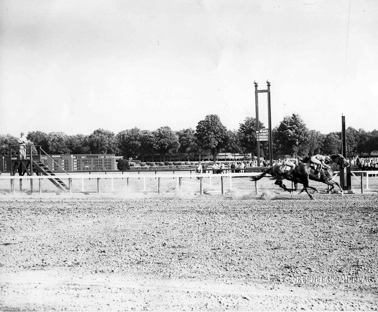 Gallorette (Arnold Kirkland up) winning the 1948 Whitney at Saratoga (Keeneland Library Morgan Collection/Museum Collection)