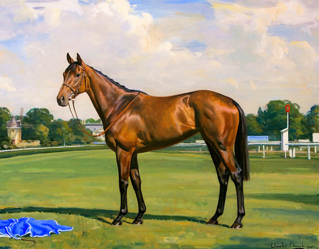 Painting of Goldikova by Charles Church