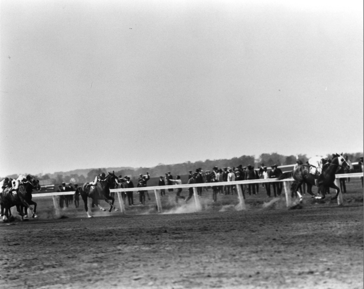 Grey Lag (Earl Sande up) winning the 1923 Metropolitan Handicap at Belmont Park (Keeneland Library Cook Collection/Museum Collection)