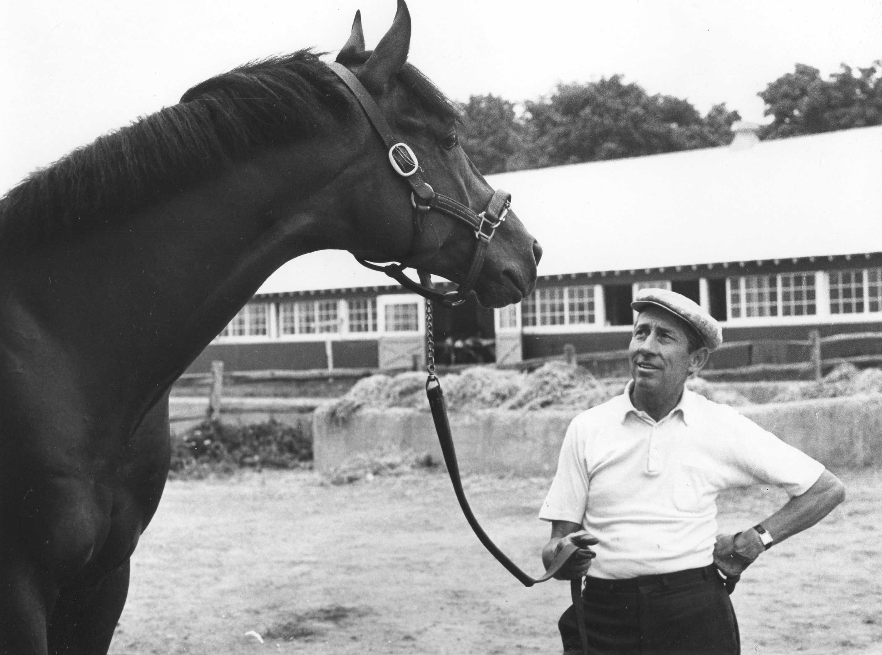 Dr. Fager and trainer John Nerud (NYRA/Paul Schafer /Museum Collection)