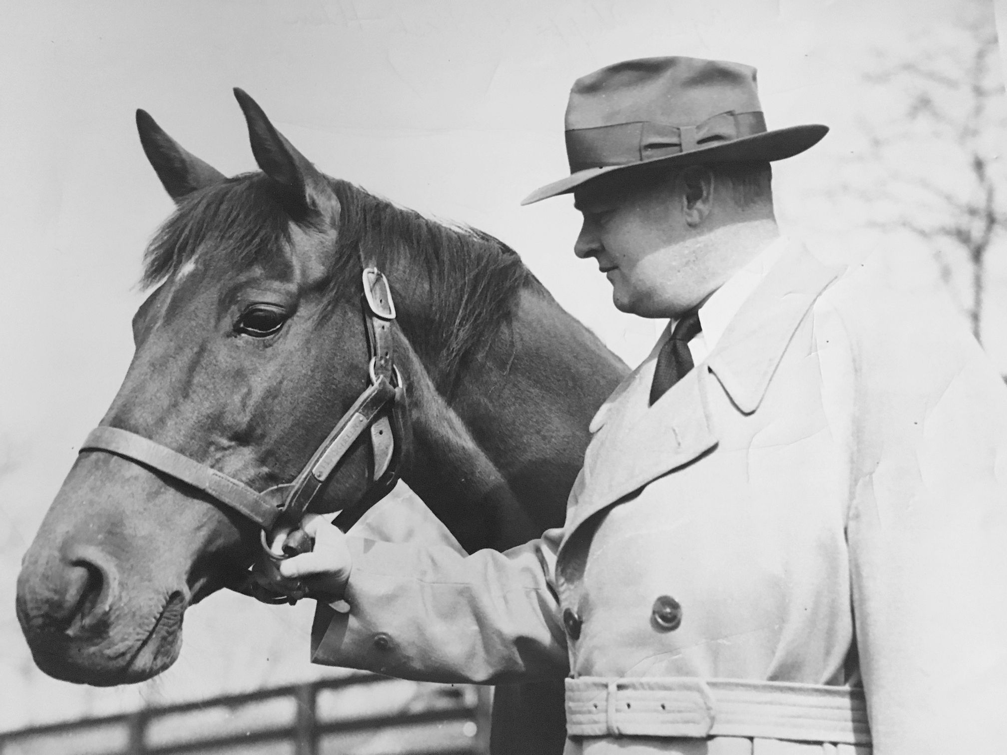 Black Helen and Ogden Phipps (Keeneland Library Thoroughbred Times Collection)