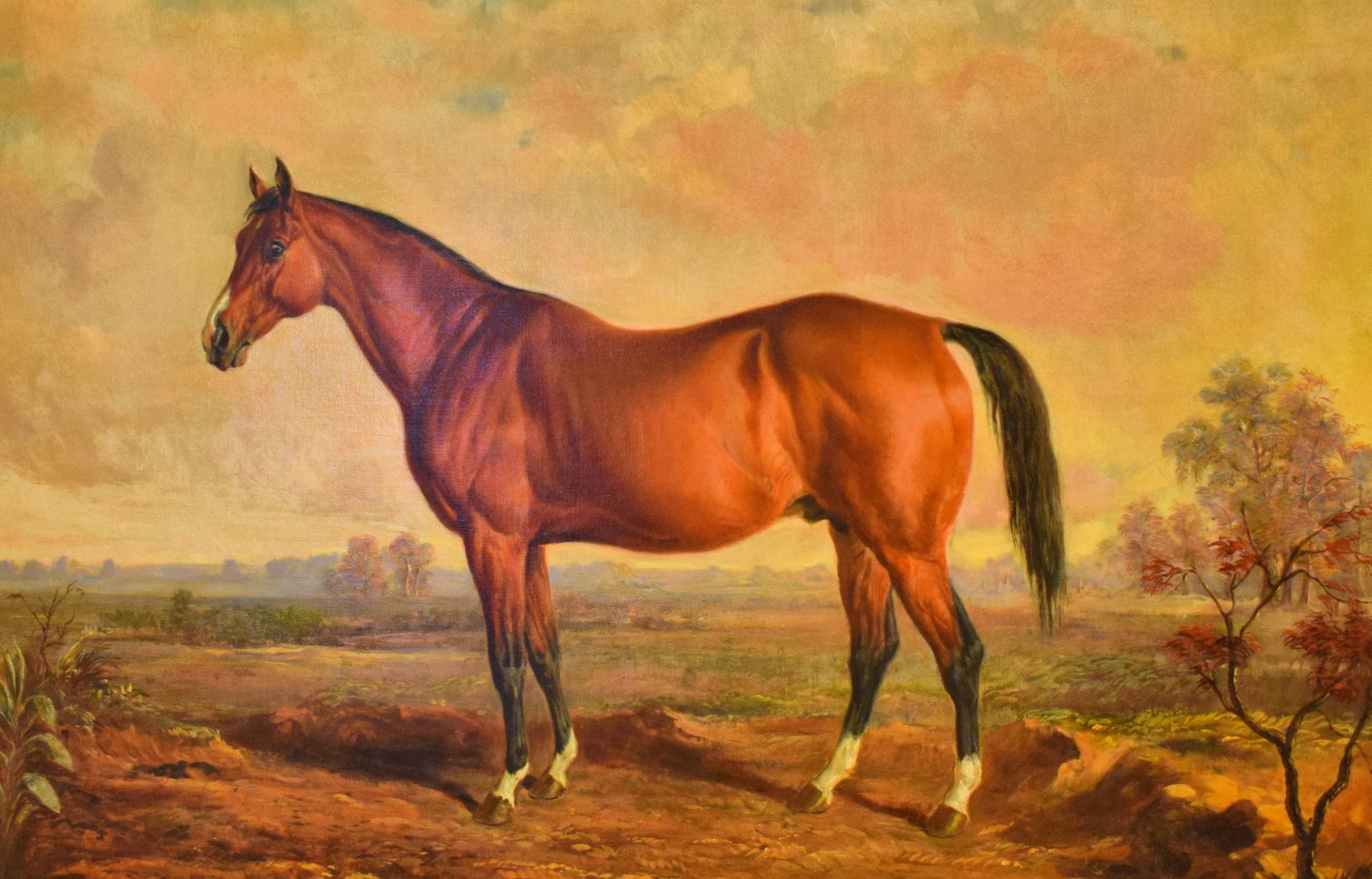 An 1870 oil on canvas portrait of Lexington by Edward Troye (Museum Collection)