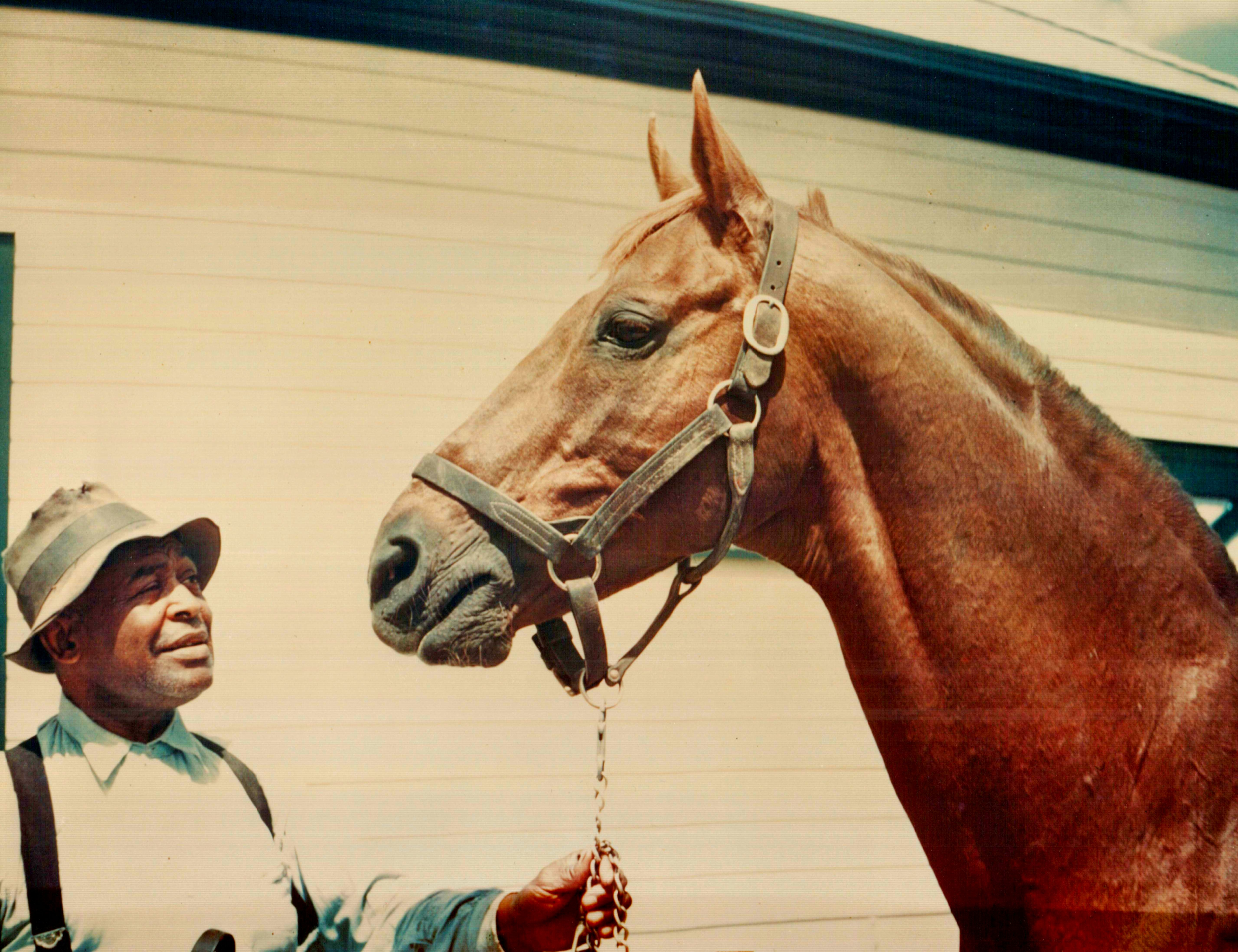Man o' War and Will Harbut (Museum Collection)