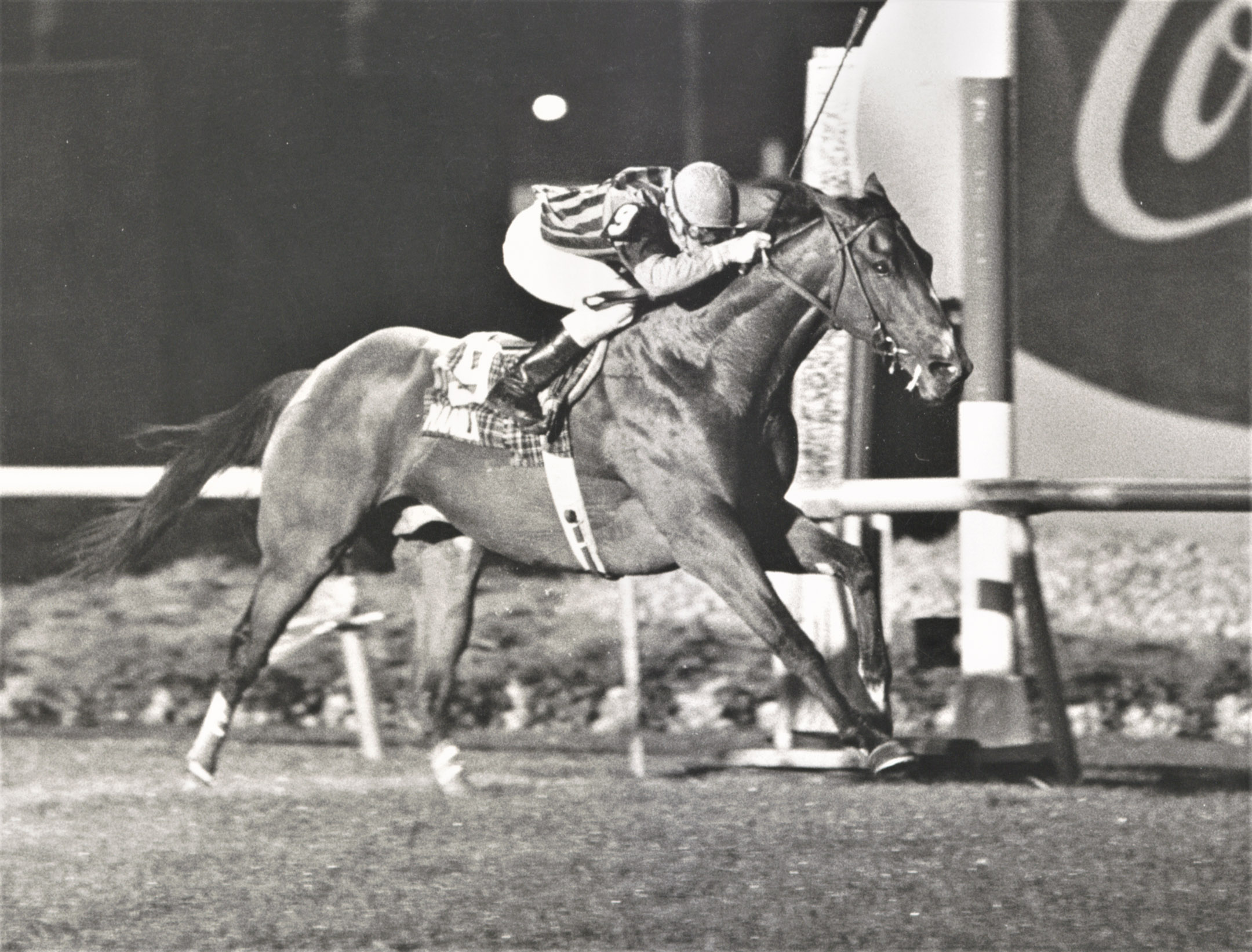 Manila (Jose Santos up) wins the 1986 Ballatine's Scotch Classic at Meadowlands (Jim Raftery Turfotos)
