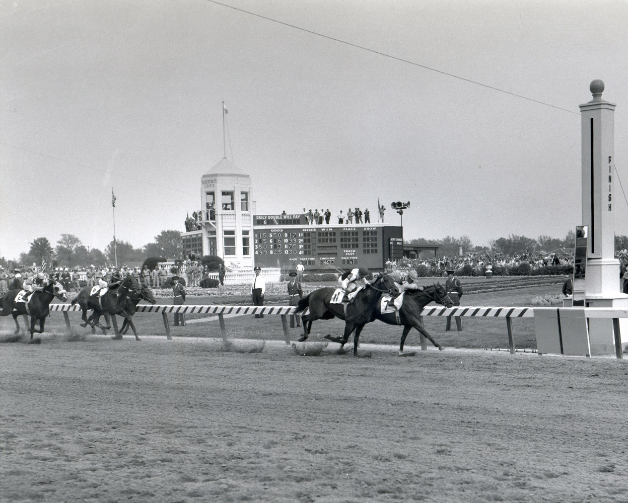 Northern Dancer (Bill Hartack up) winning the 1964 Kentucky Derby (Churchill Downs Inc./Kinetic Corp. /Museum Collection)