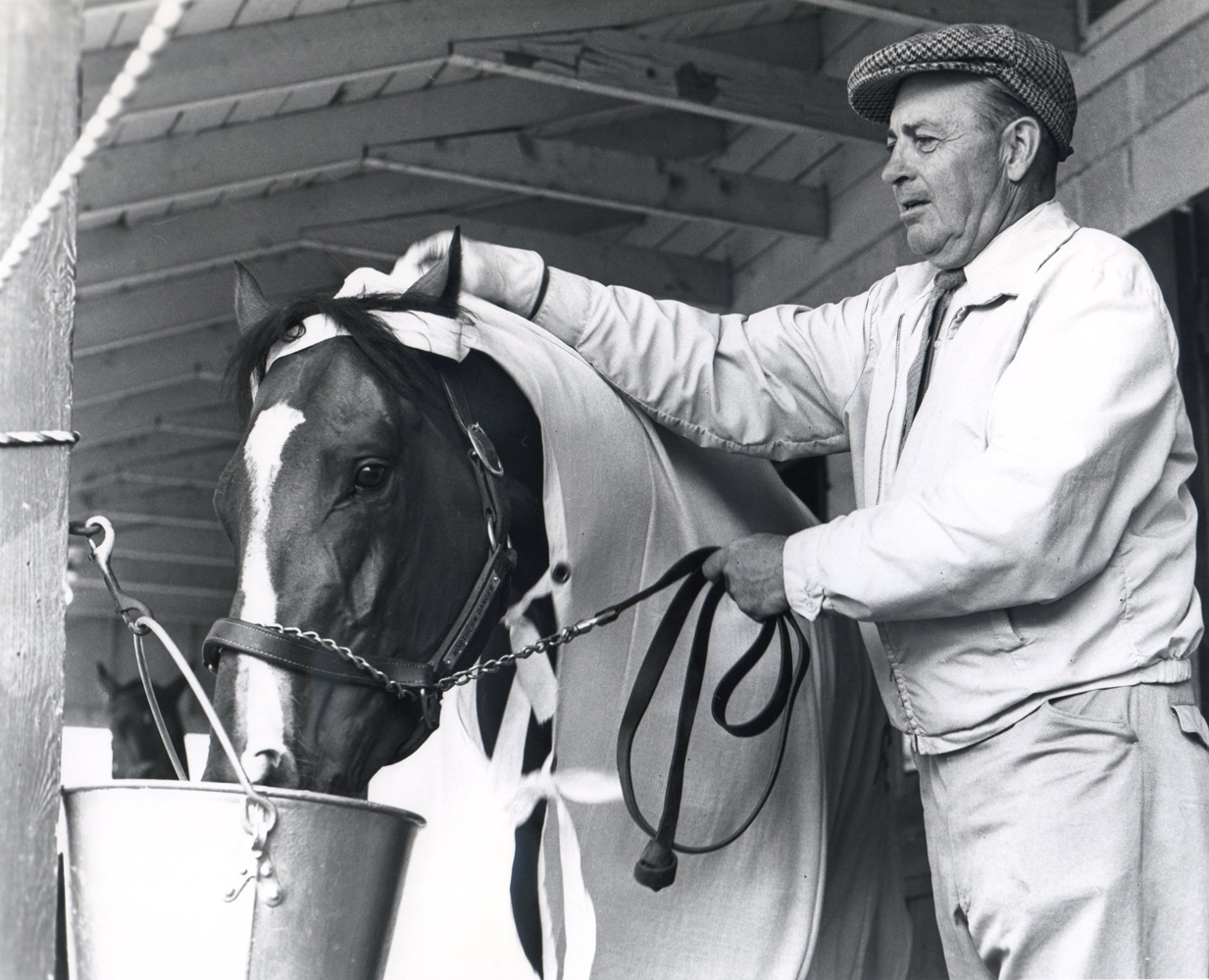Northern Dancer with Horatio Luro at Woodbine, 1964 (Michael Burns/Museum Collection)