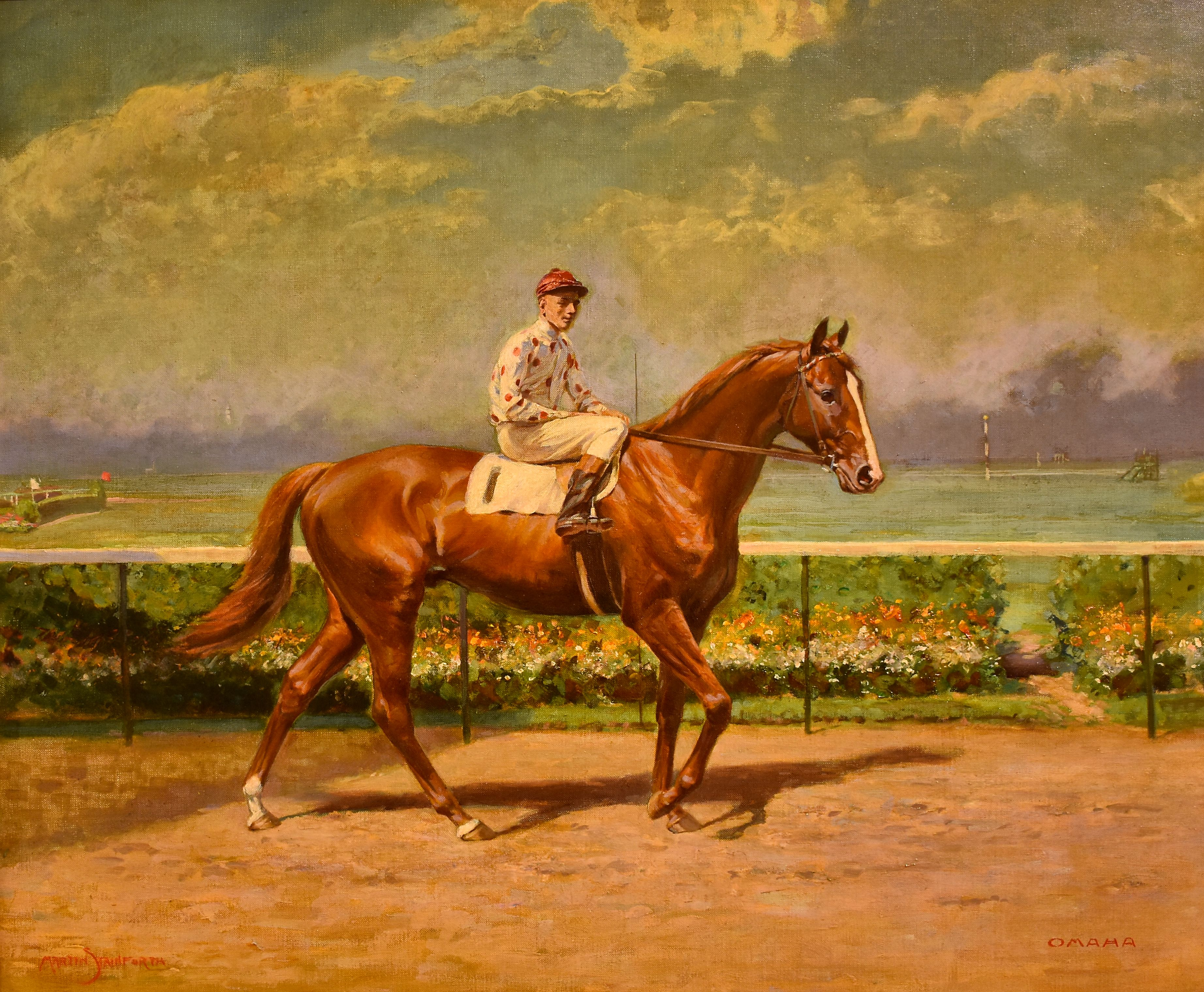 Painting of Omaha by Martin Stainforth (Museum Collection)