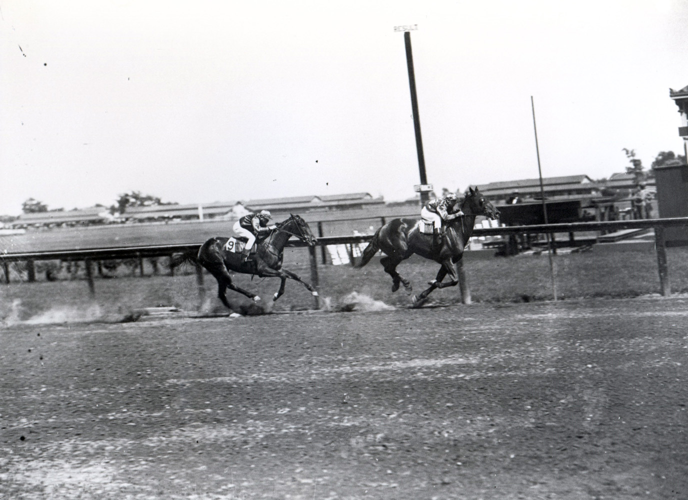 Roseben (Joe Notter up) winning the Sysonby Handicap at Sheepshead Bay, June 1908 (Keeneland Library Cook Collection/Museum Collection)
