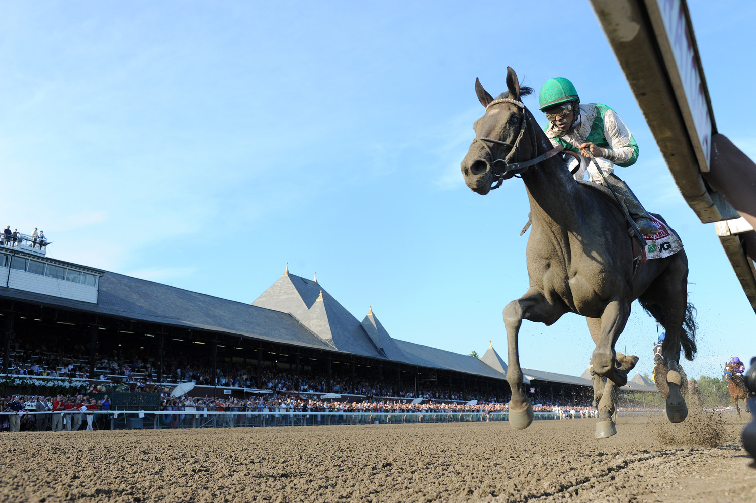 Royal Delta (Jose Lezcano up) winning the 2011 Alabama at Saratoga (NYRA)