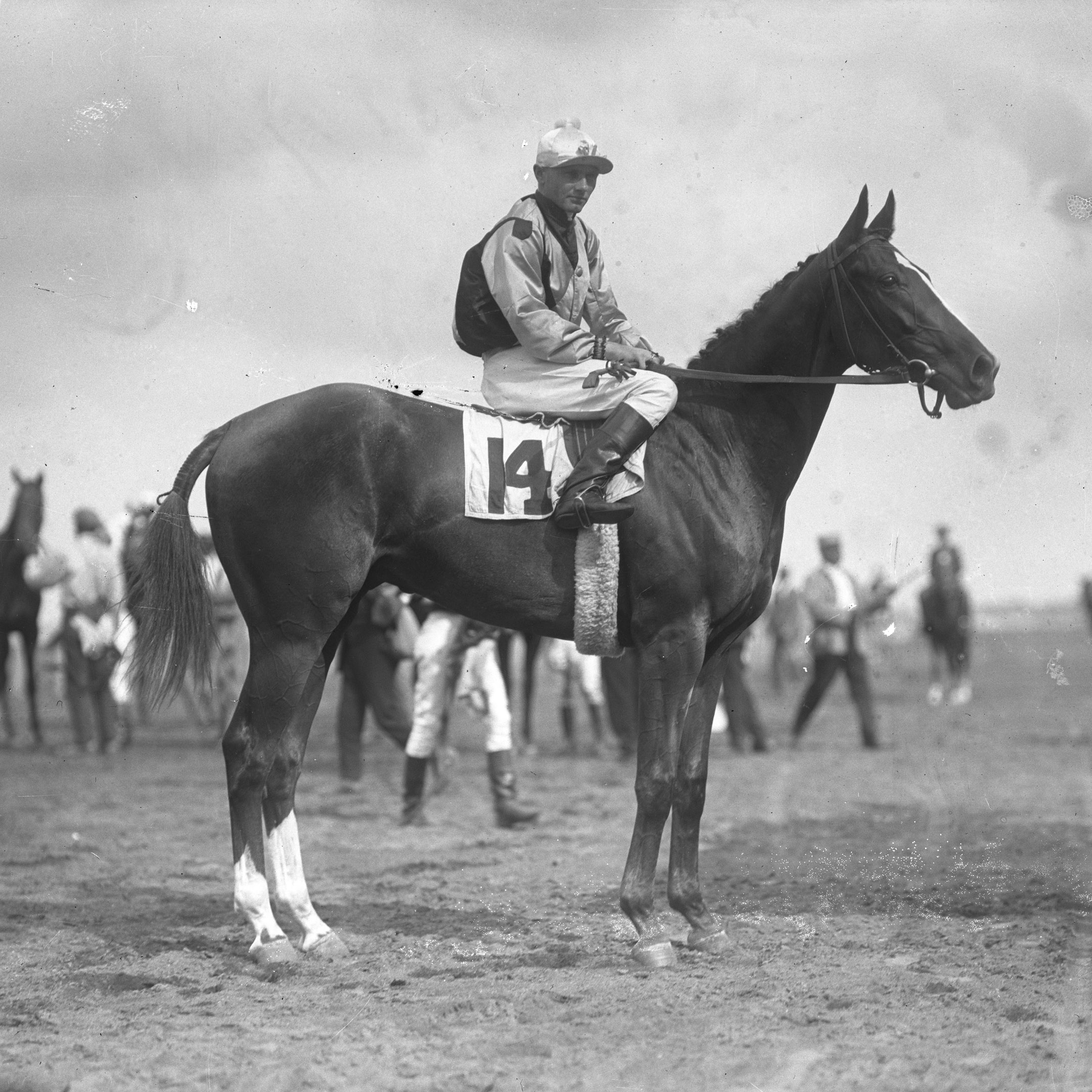 Sarazen with Earl Sande up, undated (Keeneland Library Cook Collection)