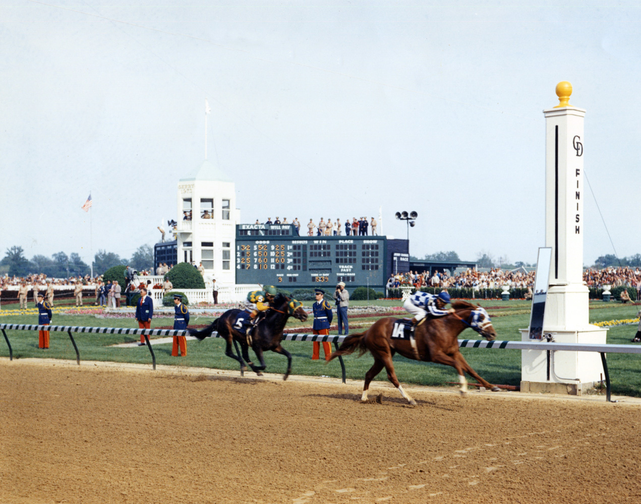 Secretariat (Ron Turcotte up) winning the 1973 Kentucky Derby (Churchill Downs Inc./Kinetic Corp. /Museum Collection)
