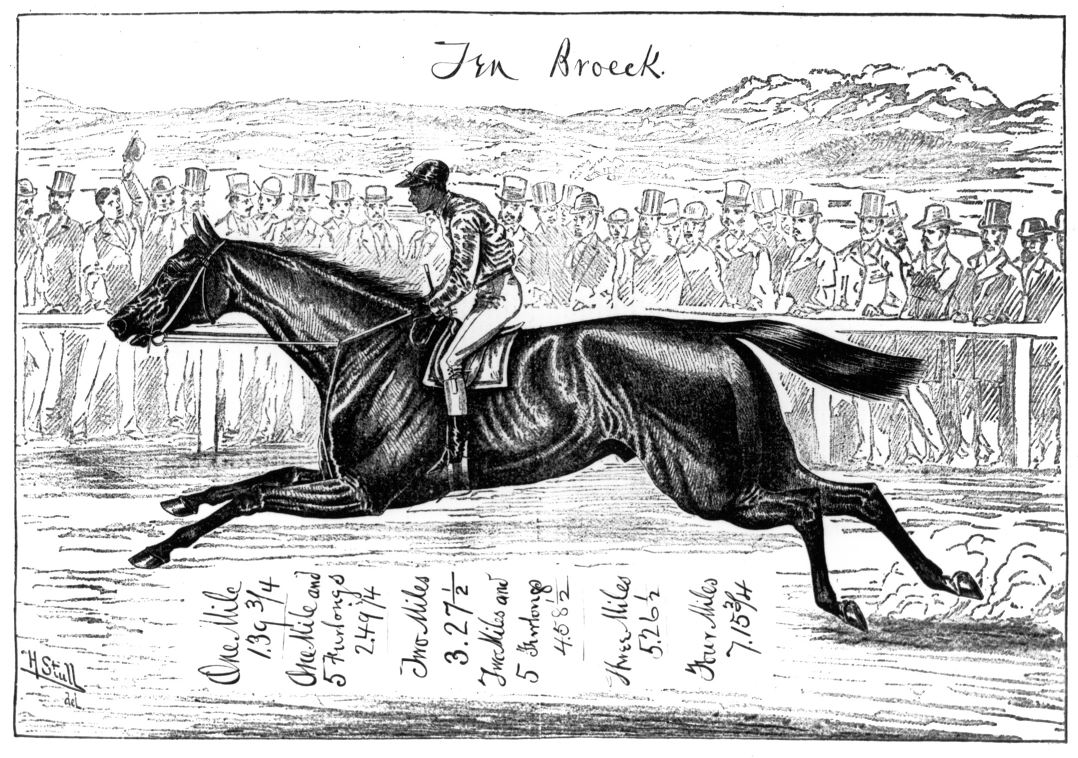 Illustration of Ten Broeck (Keeneland Library Collection/Museum Collection)