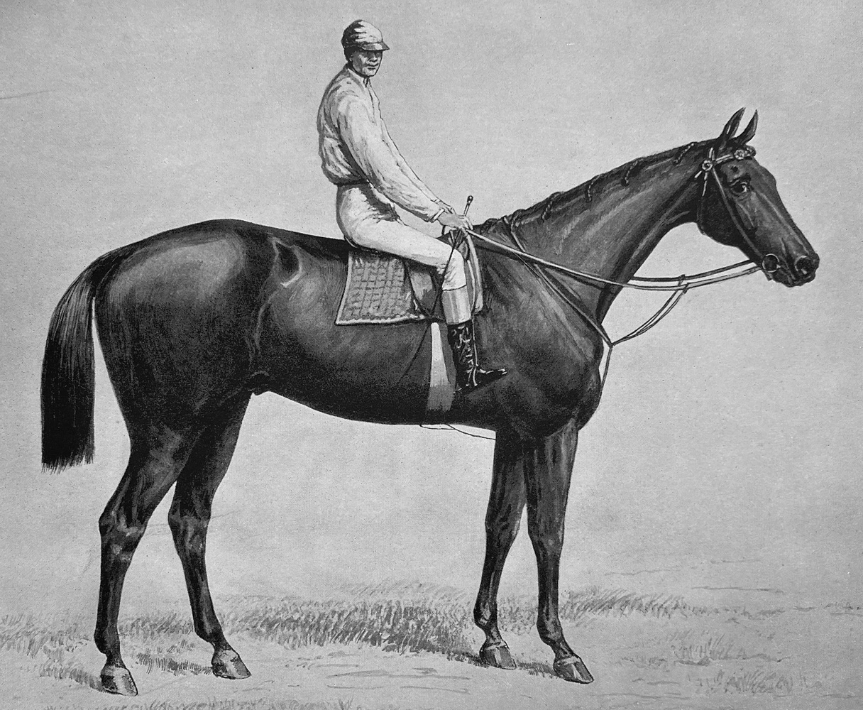 "Illustration of Ten Broeck from ""Racing in America, 1866-1921"" (Museum Collection)"