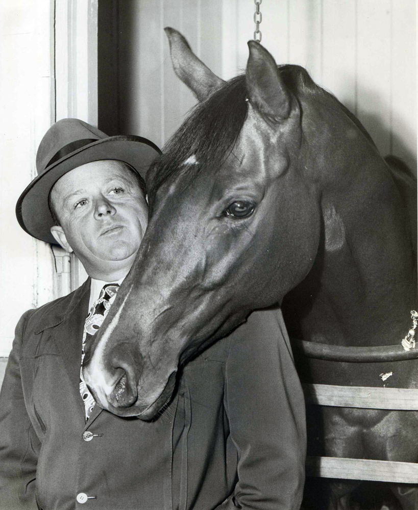 "Two Lea with trainer H. A. ""Jimmy"" Jones (Museum Collection)"