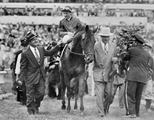 Citation with Eddie Arcaro up (Keeneland Library Morgan Collection)