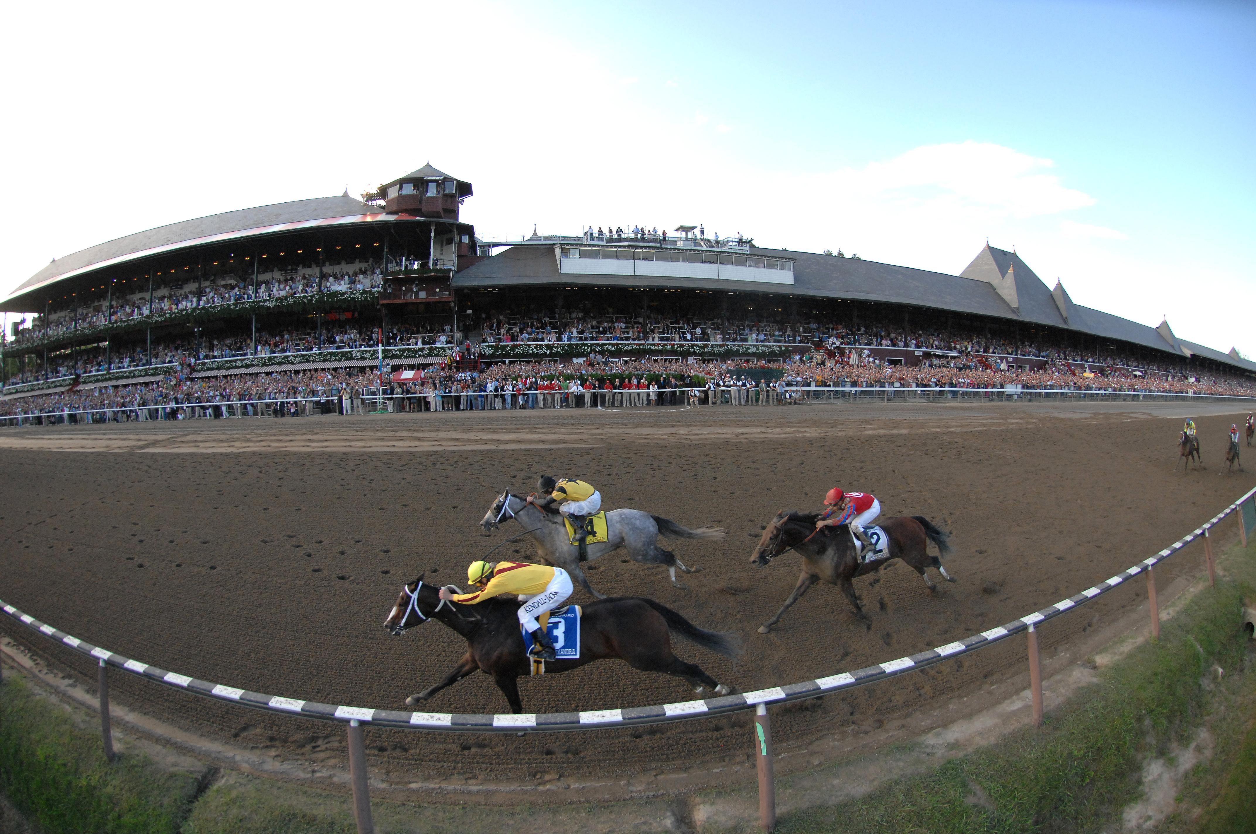 Rachel Alexandra winning the 2009 Woodward Stakes, Calvin Borel up (NYRA)