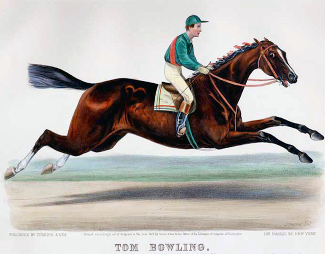 1873 Currier & Ives print of Tom Bowling