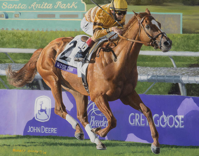 Painting of Wise Dan by Robert Clark