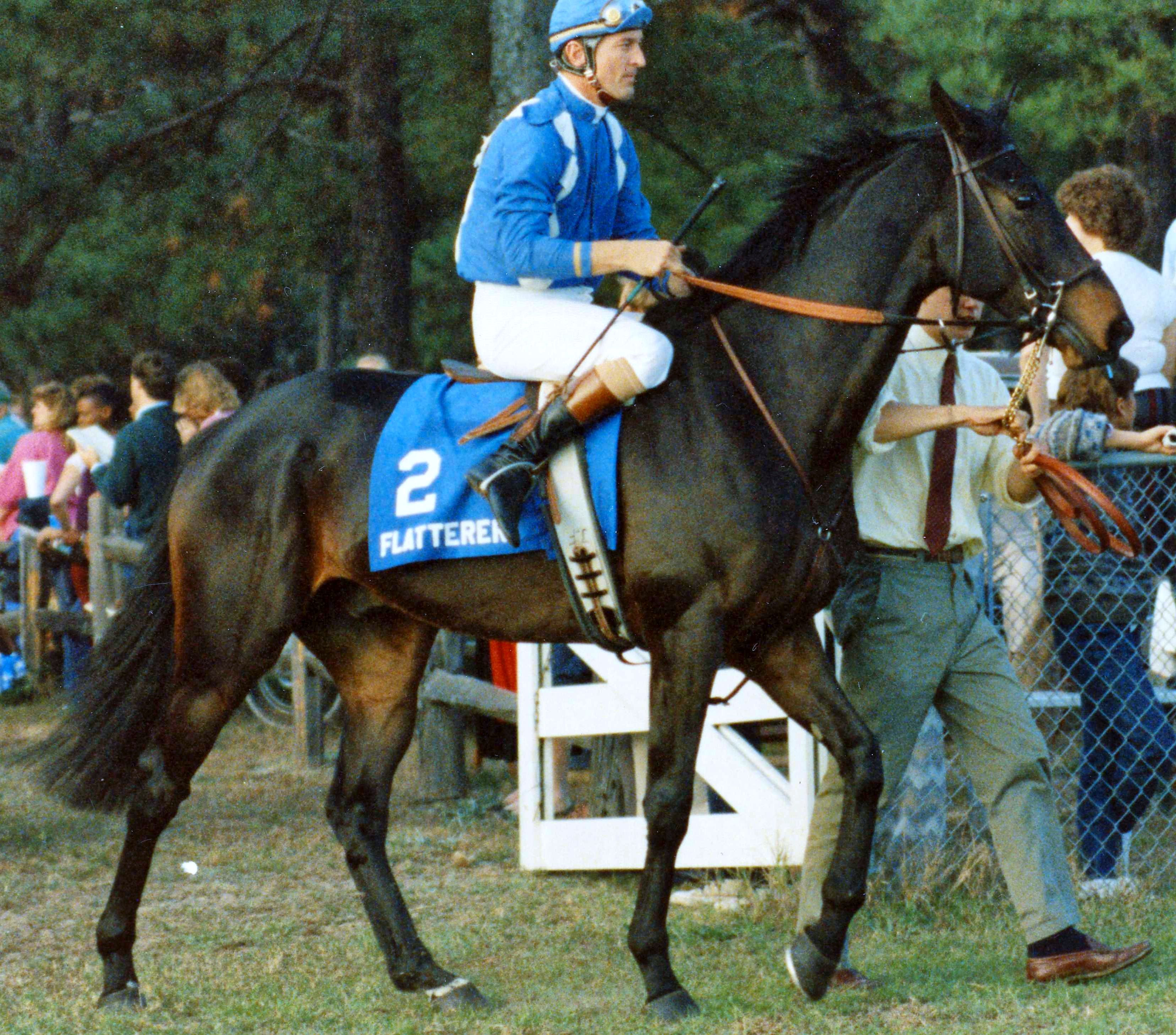 Jerry Fishback and Flatterer before the Colonial Cup (Catherine French/Museum Collection)