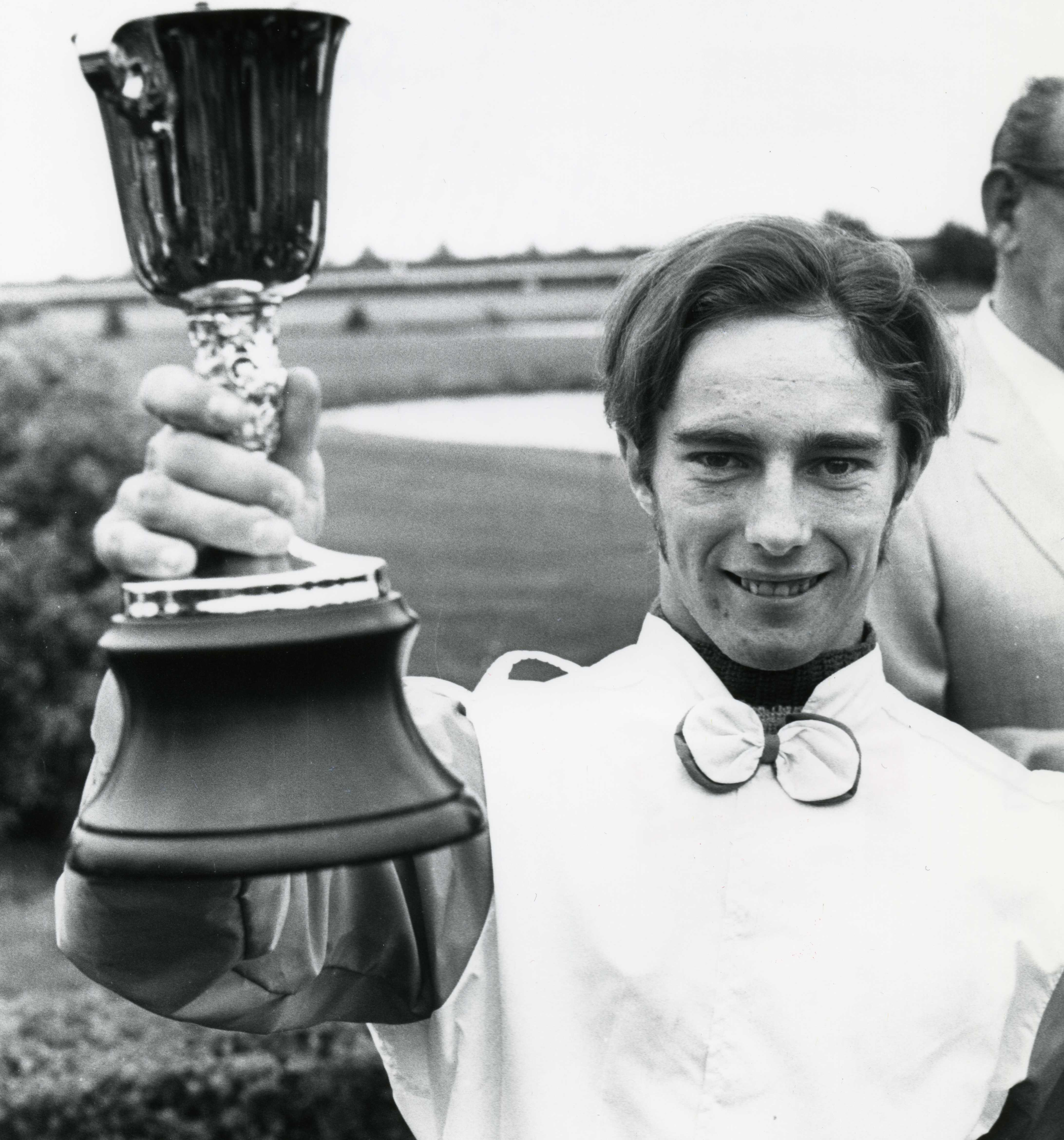 Sandy Hawley after winning the 1970 Queen's Plate at Woodbine (Michael Burns/Museum Collection)