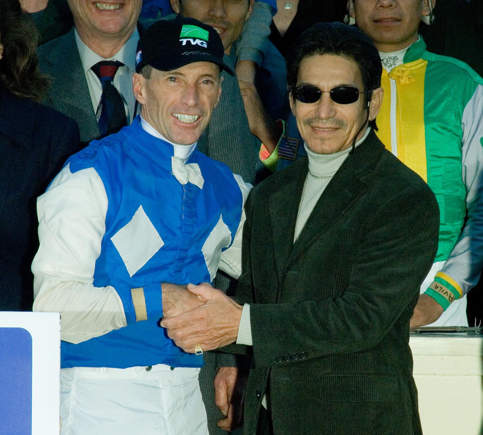 Russell Baze, left, and Laffit Pincay, Jr. (Benoit Photo)