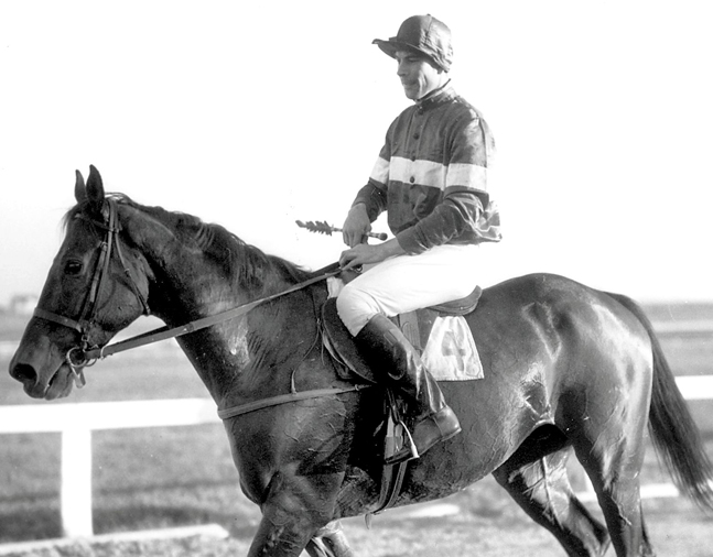 Carroll Bassett on Fairy Love for the Master's Plate Race at the Huntington Valley Hunt Races (Keeneland Library Morgan Collection/Museum Collection)