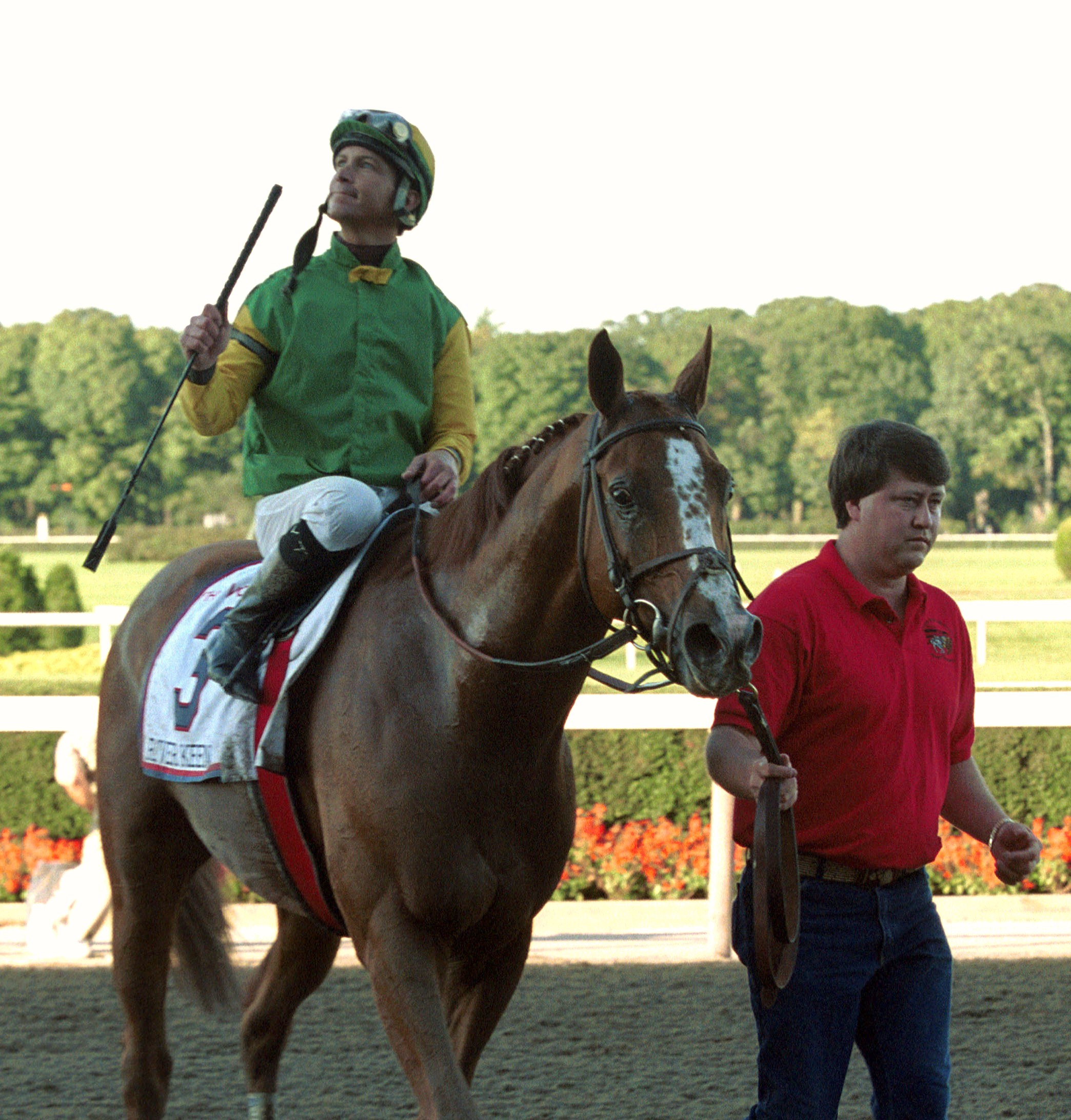 Chris Antley aboard River Keen (NYRA)