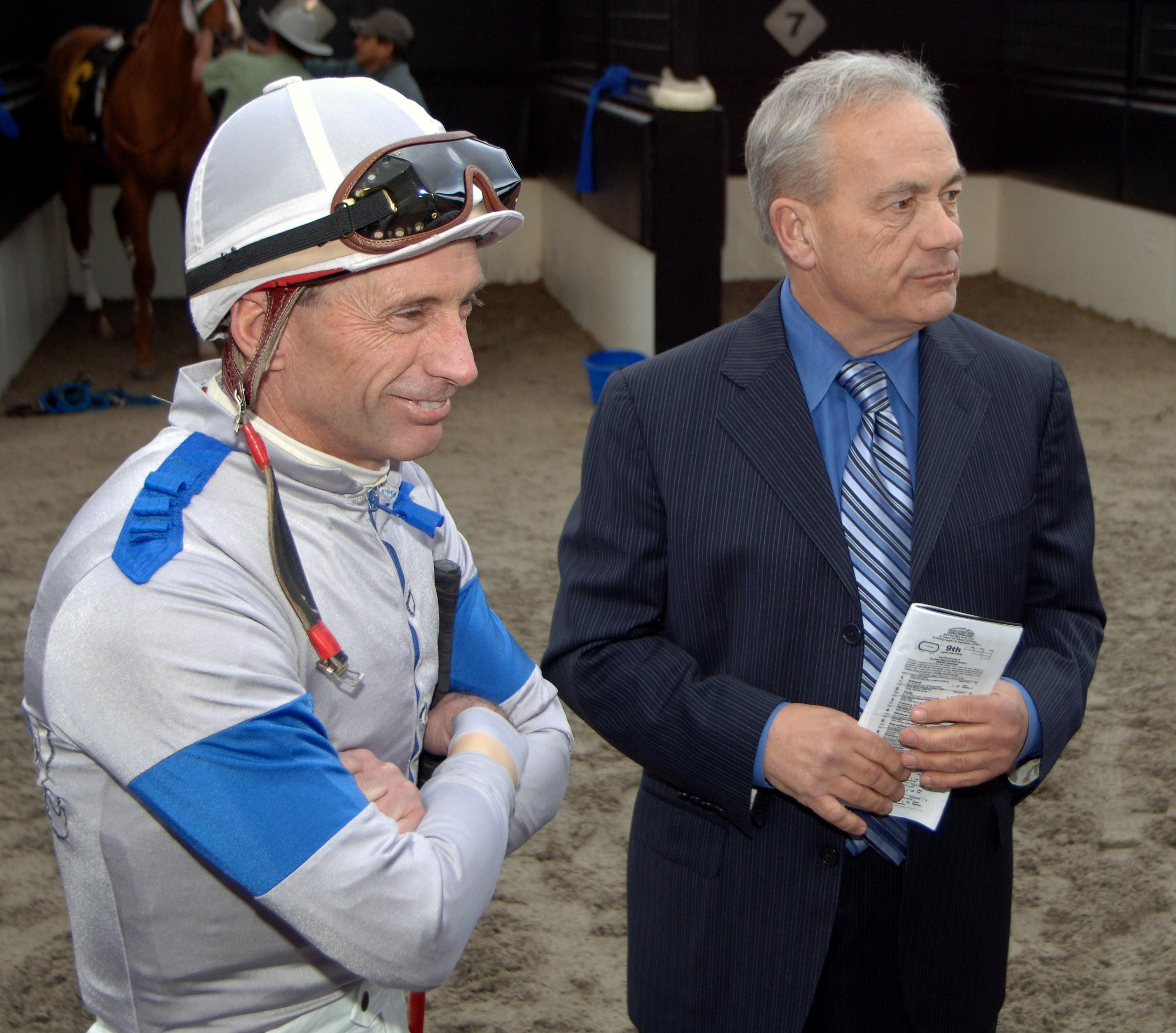 Russell Baze, left, and Jerry Hollendorfer (Benoit Photo)