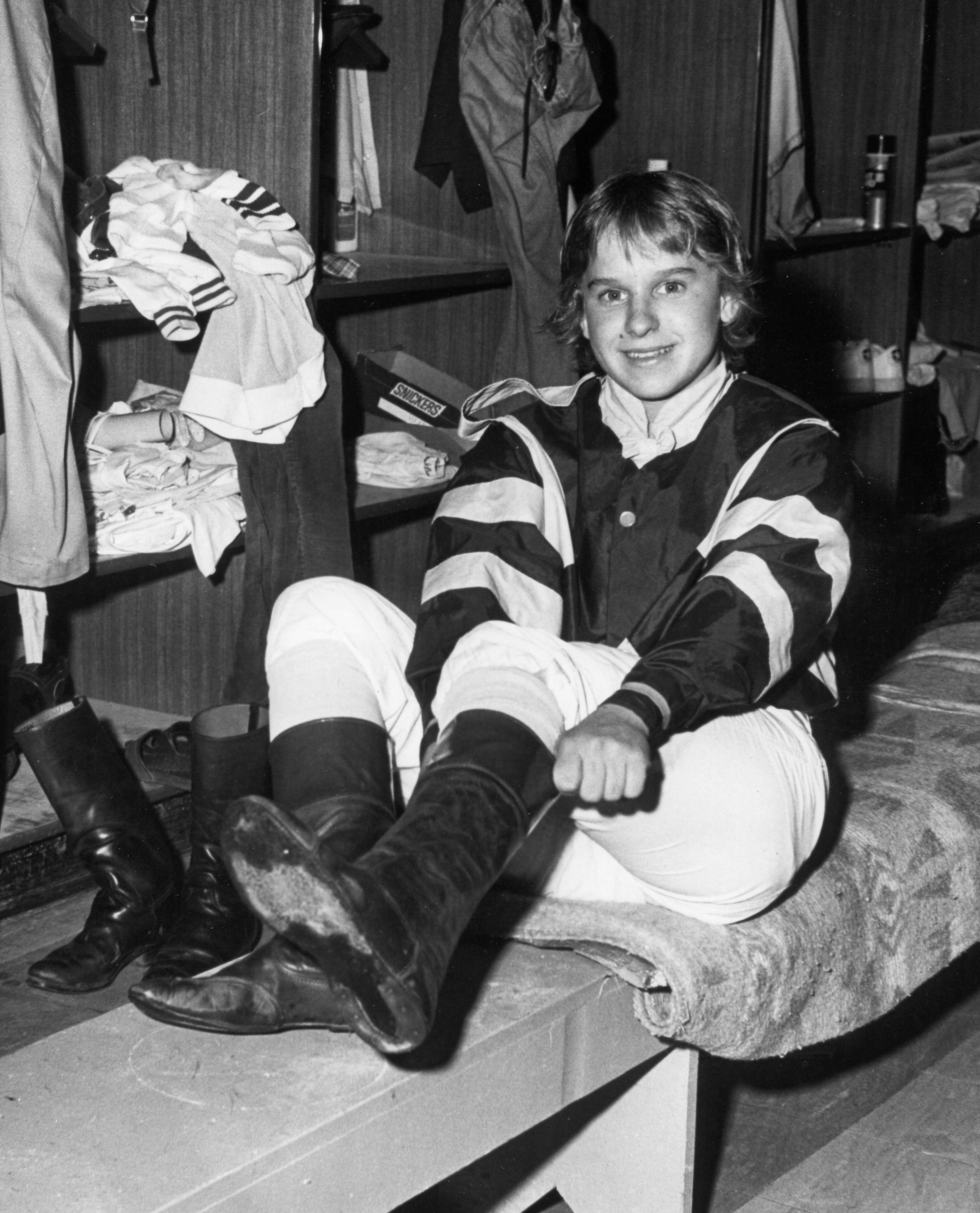 Julie Krone at Pimlico, 1981 (Maryland Jockey Club)