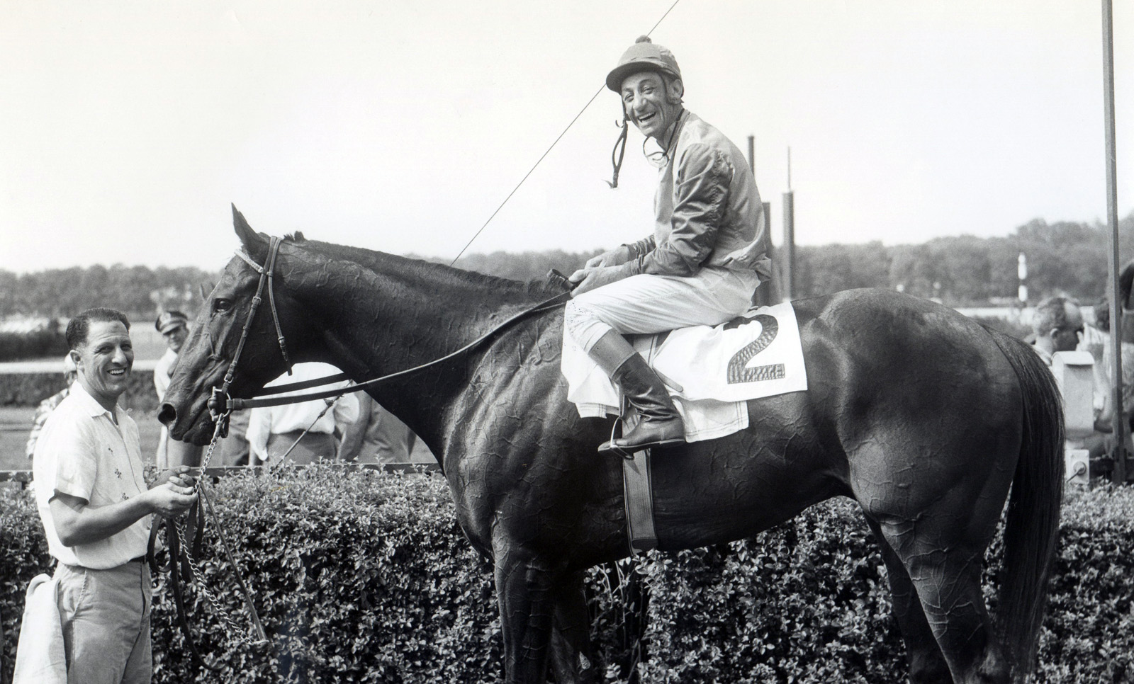 Eddie Arcaro and Bold Ruler in 1958 (Bert and Richard Morgan/Museum Collection)