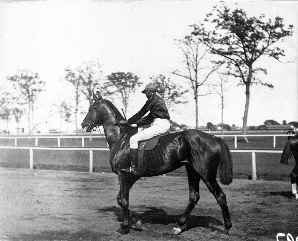 """Shelby """"Pike"""" Barnes and Montana, undated (Keeneland Library Hemment Collection)"""