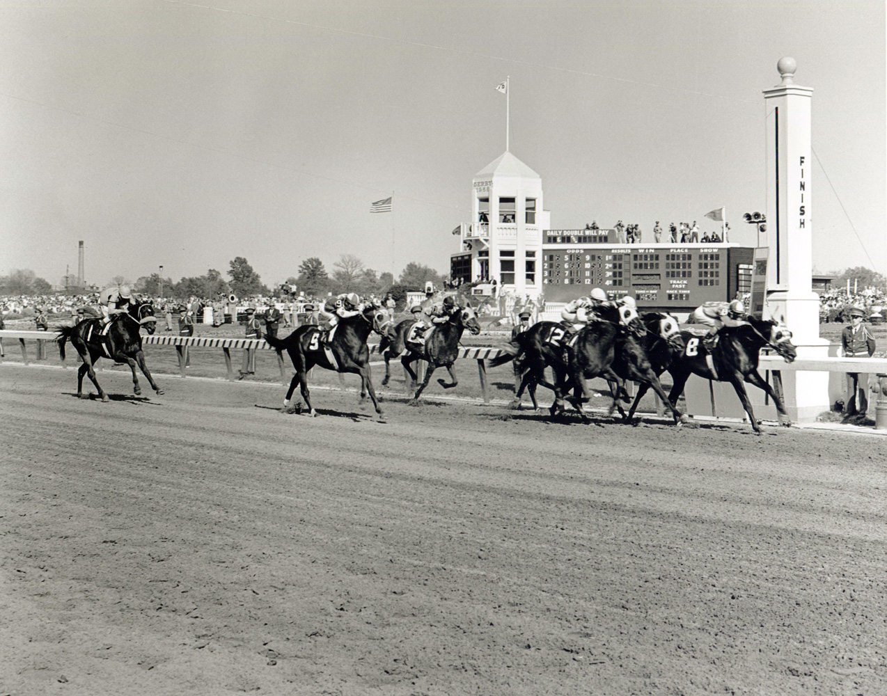 Don Brumfield and Kauai King winning the 1966 Kentucky Derby at Churchill Downs (Churchill Downs Inc./Kinetic Corp. /Museum Collection)