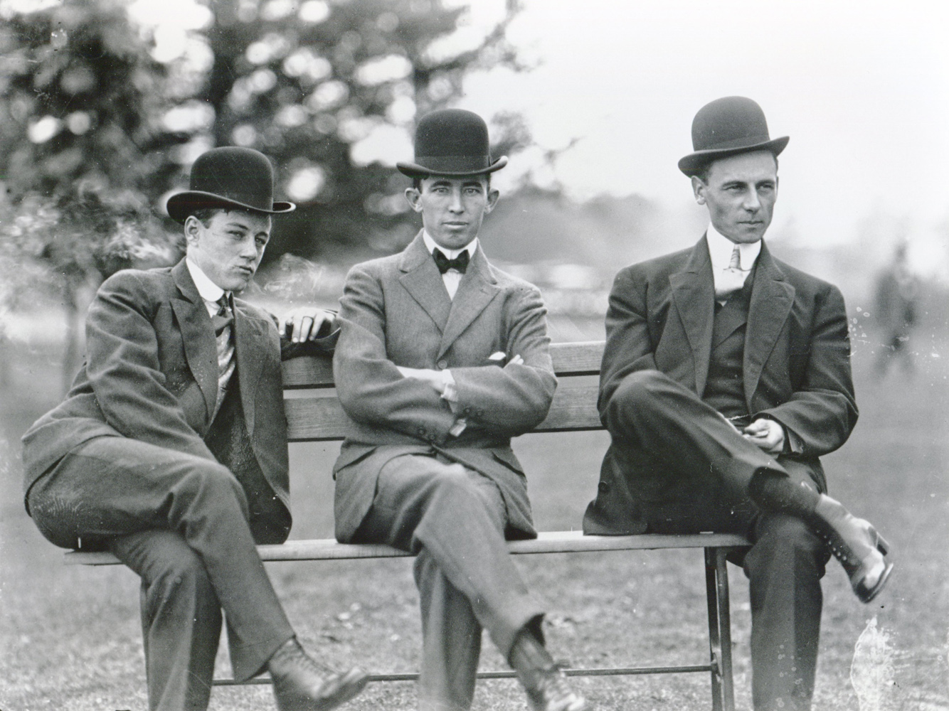 Frank O'Neill, Tommy Burns, and Willie Shaw (from left to right) (Keeneland Library Cook Collection/Museum Collection)